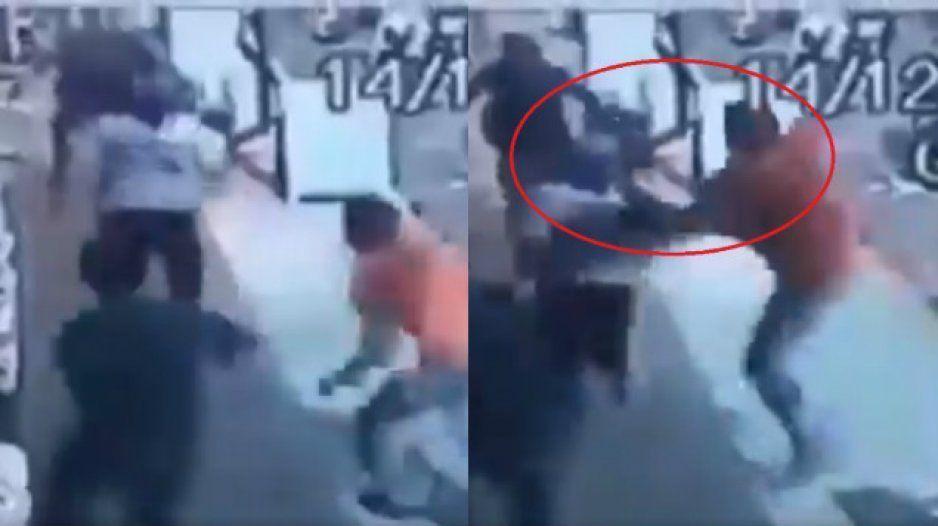 Con bota en la cara, así detuvieron a rata roba Oxxos (VIDEO)