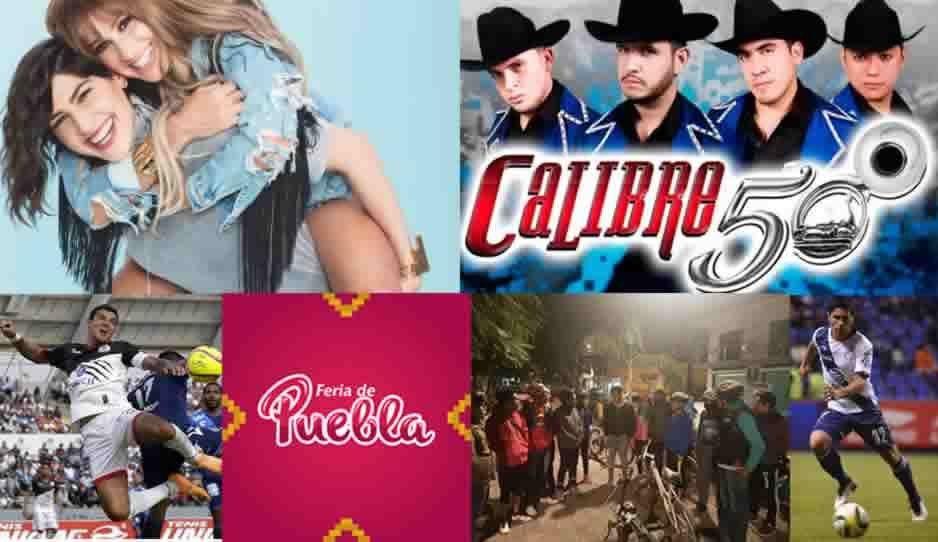 Ha-Ash, Calibre 50, apoya al Puebla y Lobos BUAP, Feria de Puebla y muchas cosas mas que hacer en Puebla este fin de semana