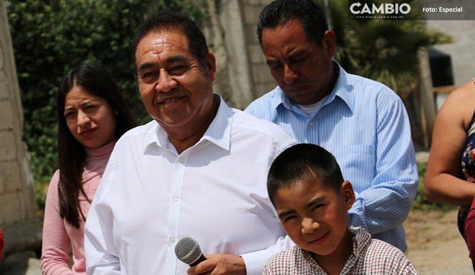 Edil Mario de la Rosa entrega obra  de drenaje en El Paraíso, Amozoc