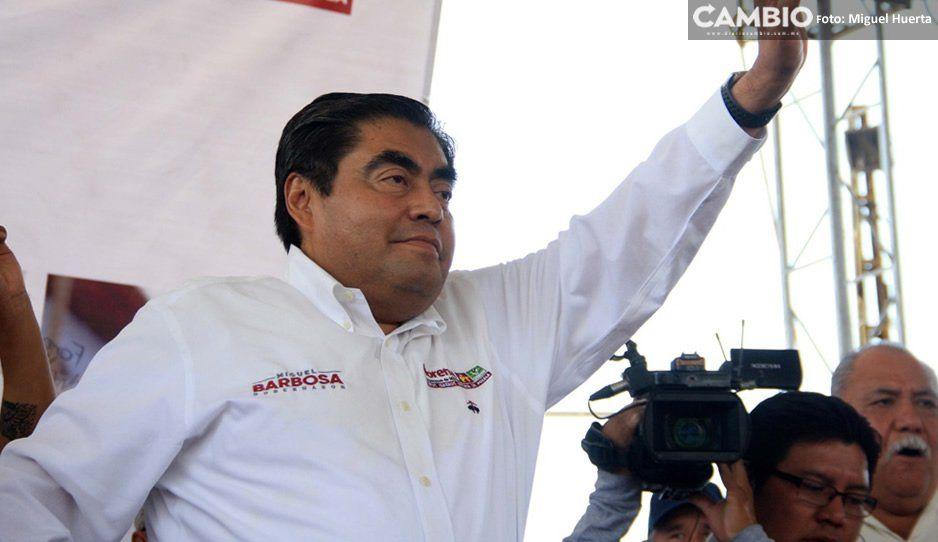 Mario Marín no está en mi campaña, él tiene a su candidato: Barbosa