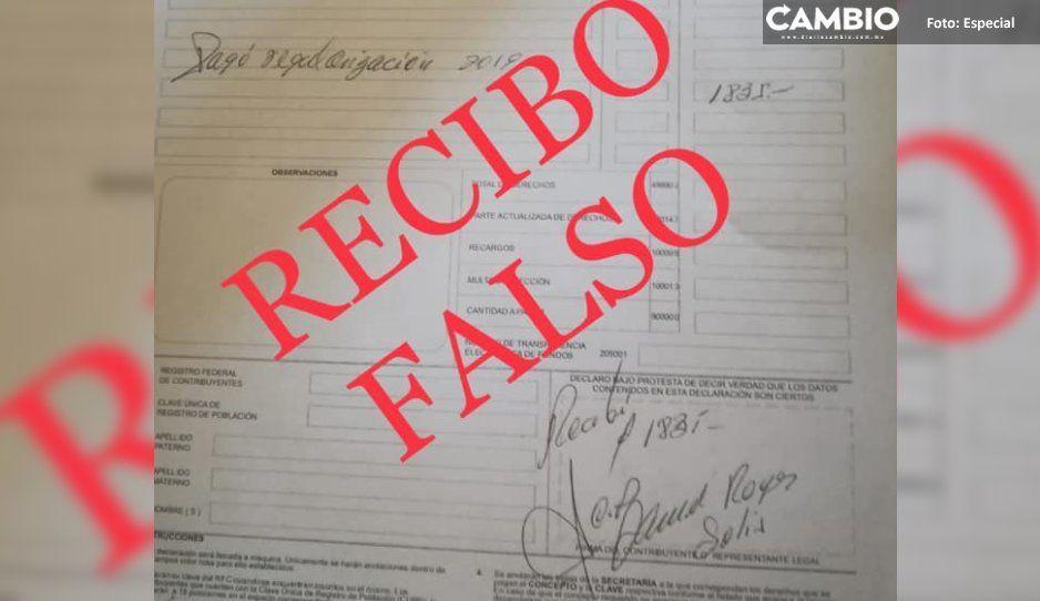 Alerta Ayuntamiento de Atlixco por  falso cobrador de impuesto predial