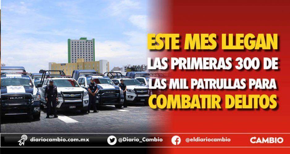 Este mes llegan las primeras 300 de las mil patrullas para combatir delitos