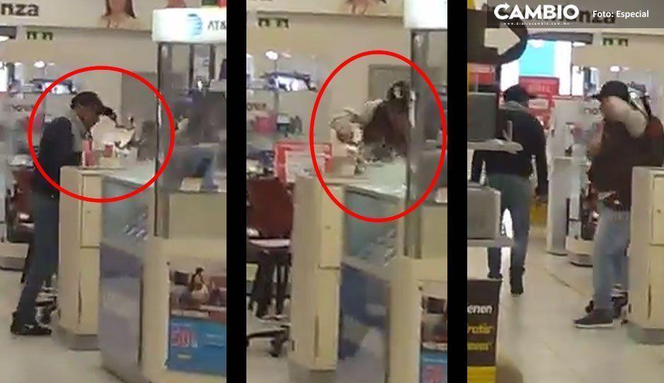 Así asaltaron el Elektra del Zócalo: malvivientes rompen vidrios para llevarse celulares y efectivo (VIDEO)