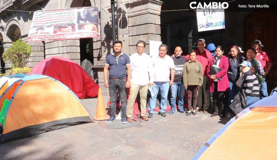 Tras 71 días levantan plantón que estaba frente al Ayuntamiento
