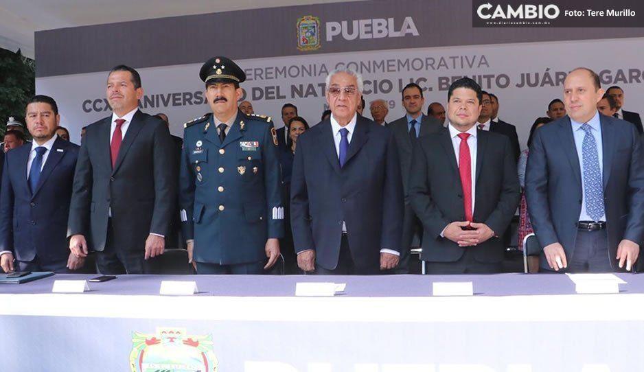 Guillermo Pacheco encabeza ceremonia de conmemoración por el 213 Aniversario del Natalicio de Benito Juárez