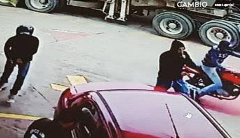 VIDEO:¡Cuidado! Así operan asaltantes de gasolineras