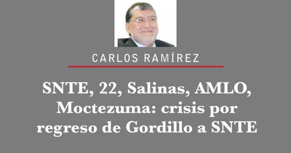 SNTE, 22, Salinas, AMLO, Moctezuma: crisis por regreso de Gordillo a SNTE