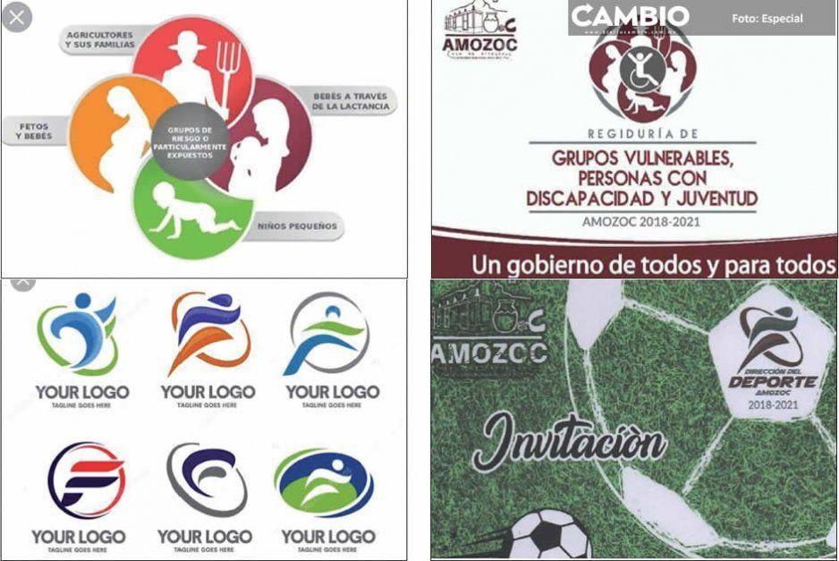 Ayuntamiento morenista de Amozoc  plagia los logotipos de sus comisiones