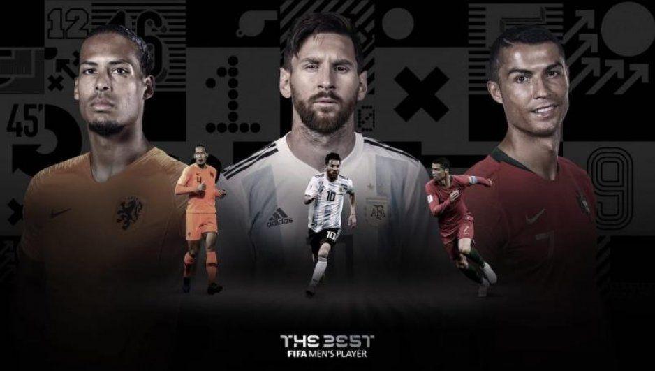 Cristiano, Messi y Van Dijk, los finalistas para el premio The Best