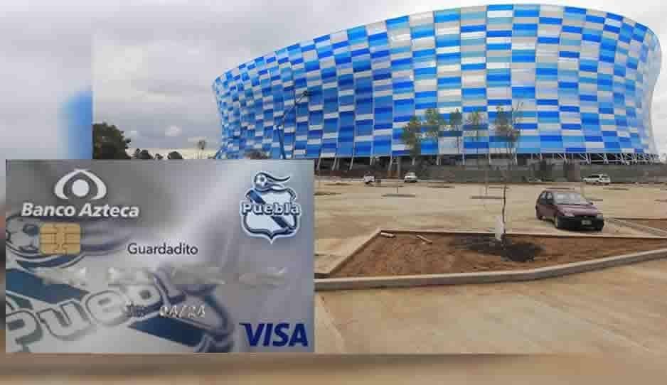 Azteca hace negocio con el Club Puebla con su tarjeta de Guardadito
