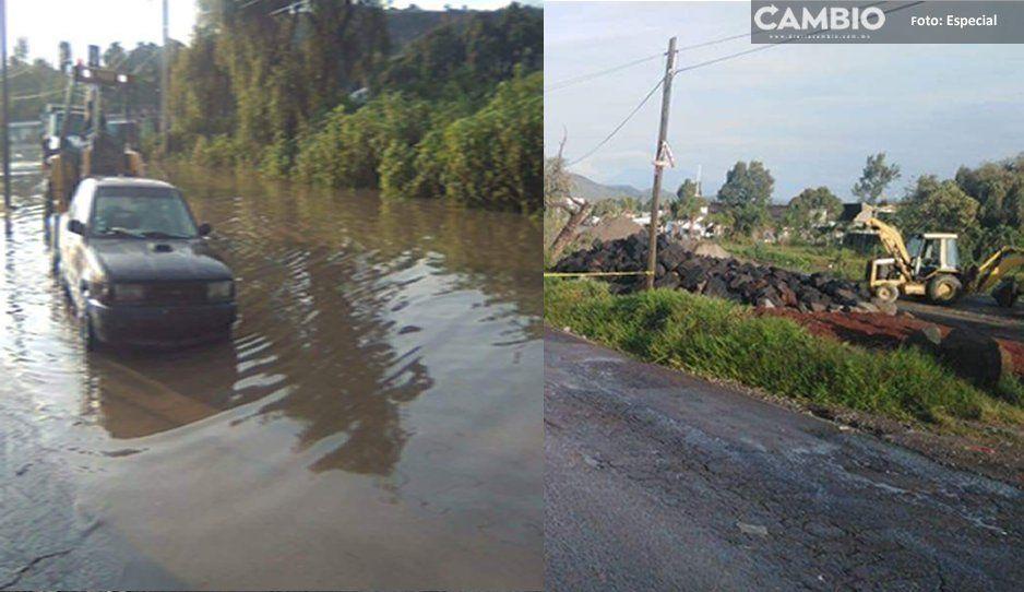 ¡Cuidado con el río! Se desborda el Atoyac en Ocoyucan