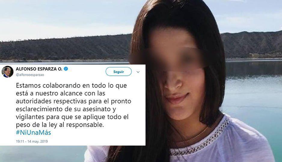 Pide Esparza esclarecer la muerte de Ingrid Guevara
