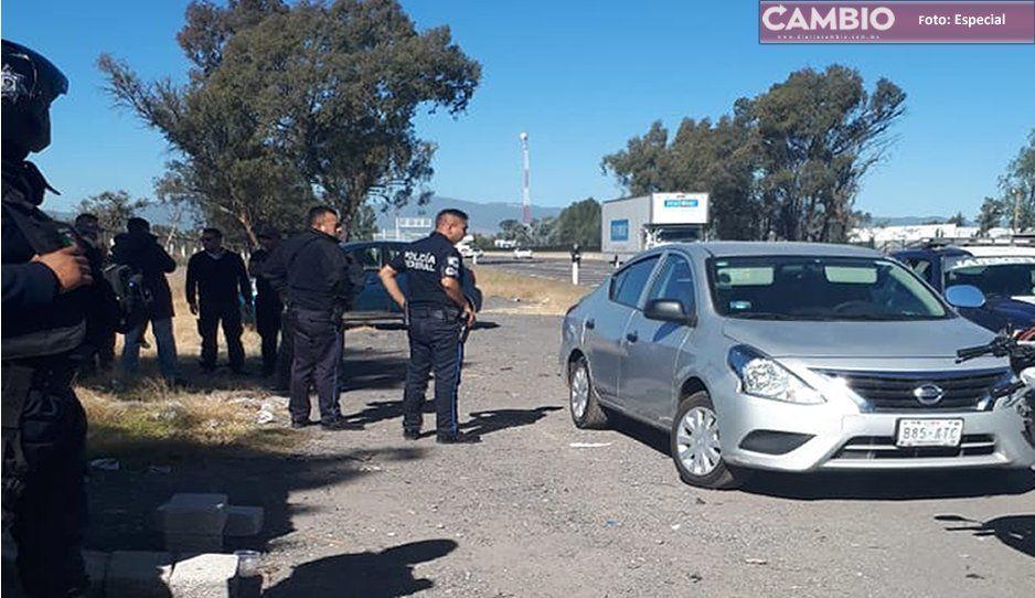 Policías de Texmelucan recuperan vehículo con reporte de robo