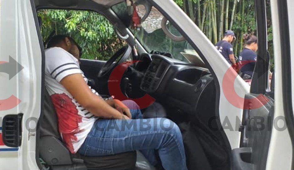 Durante asalto a combi, disparan a profe y muere en Pantepec