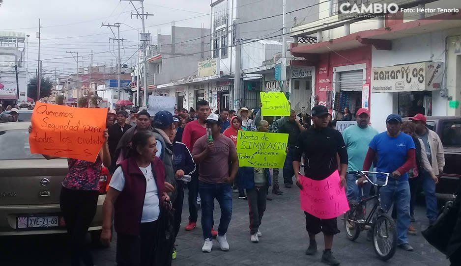 Pobladores protestan contra la alcaldesa de Huejotzingo tras hechos violentos de ayer (VIDEO)