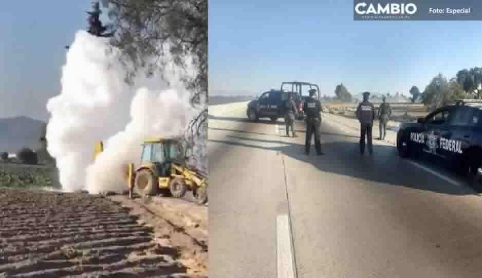 Tras 24 horas, aún no ha sido controlada la fuga de gas que provocó Pemex en la Puebla-Orizaba