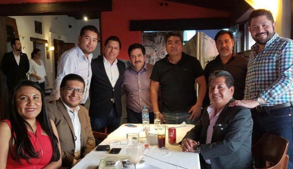 Ex ediles del PRI celebran designación de Pacheco Pulido como gobernador interino