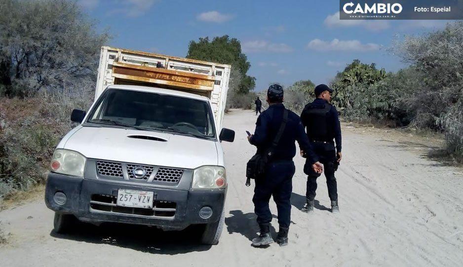 Policías de Tochtepec recuperan camioneta con reporte de robo