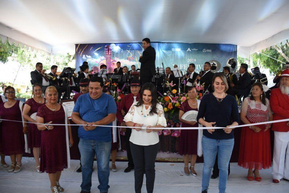 Inaugura Norma Layón la décima edición del Festival Calpulli Temoxcalli en Texmelucan
