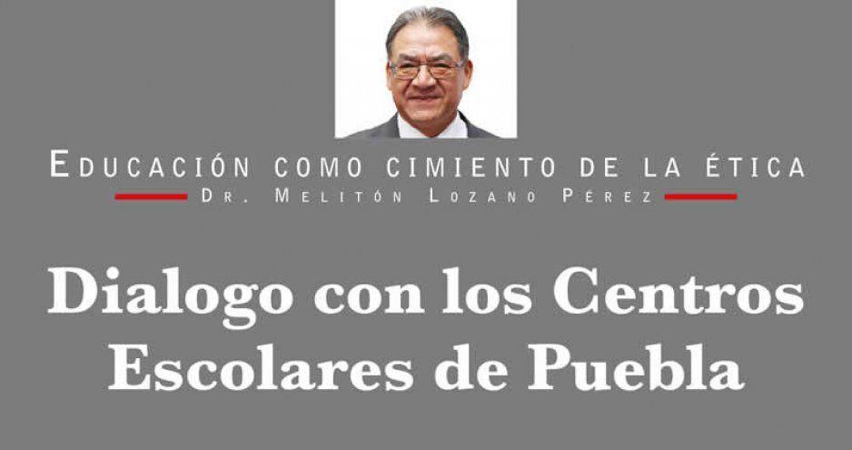 Dialogo con los Centros Escolares de Puebla