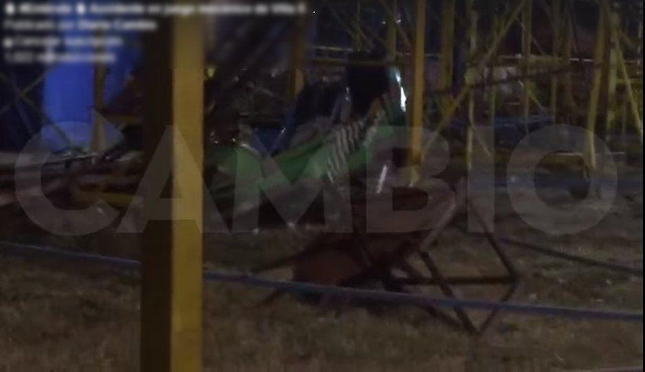 Accidente en la montaña rusa de la Villa Iluminada fue causado porque una pieza se rompió