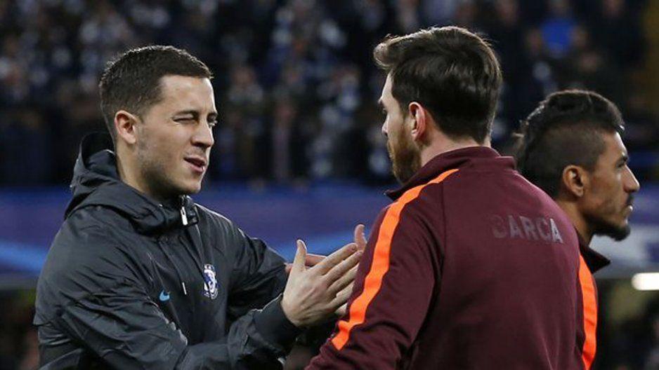 No podemos ser comparados con el incomparable, Messi es el mejor de la historia: Hazard  (VIDEO)