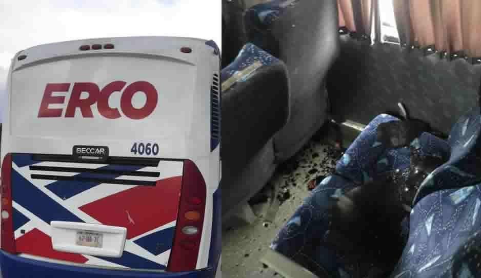 Frenan a pedradas autobús Erco en la Puebla-Atlixco; buscaban asaltar a los pasajeros