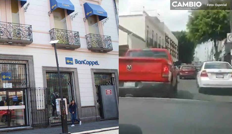 Persecución en calles del Centro luego de que delincuentes atracaran Coppel de la 10 (VIDEO)