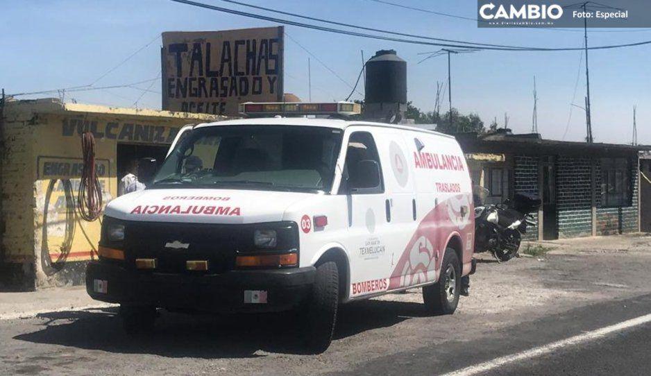 Convoy rafaguea ambulancia y levanta a herido que trasladaban de Texmelucan a Tlaxcala