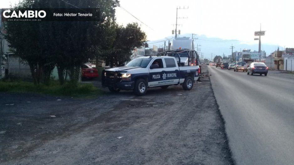 Sujetos armados atracan casa de materiales en Texmelucan