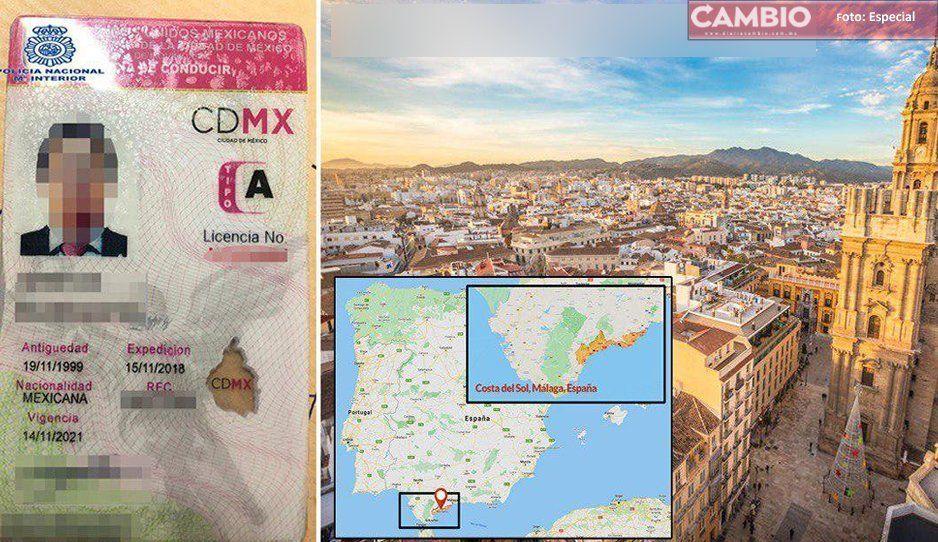 Por su licencia de conducir, identifican a Lozoya en España