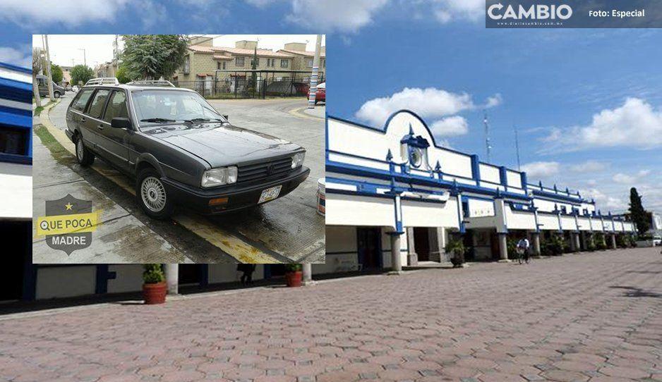 Mientras Karina Pérez acapara policías municipales para escoltarla, a su empleado le roban el auto en la presidencia