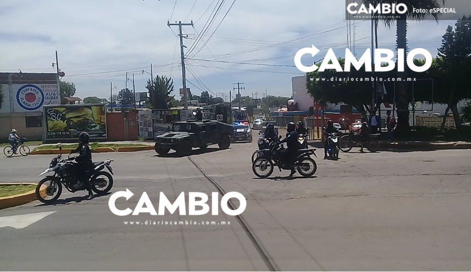 Capturan a sujeto por portar arma de fuego y granada de fragmentación en Texmelucan