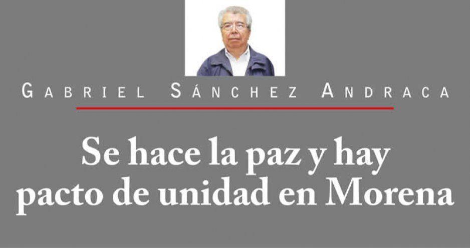 Se hace la paz y hay pacto de unidad en Morena