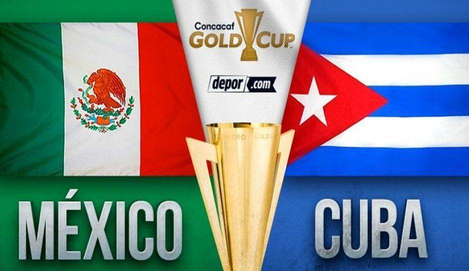 ¡GOOOOOOL de México! Al minuto 2 el Tri se impone 1-0 ante Cuba en la Copa Oro