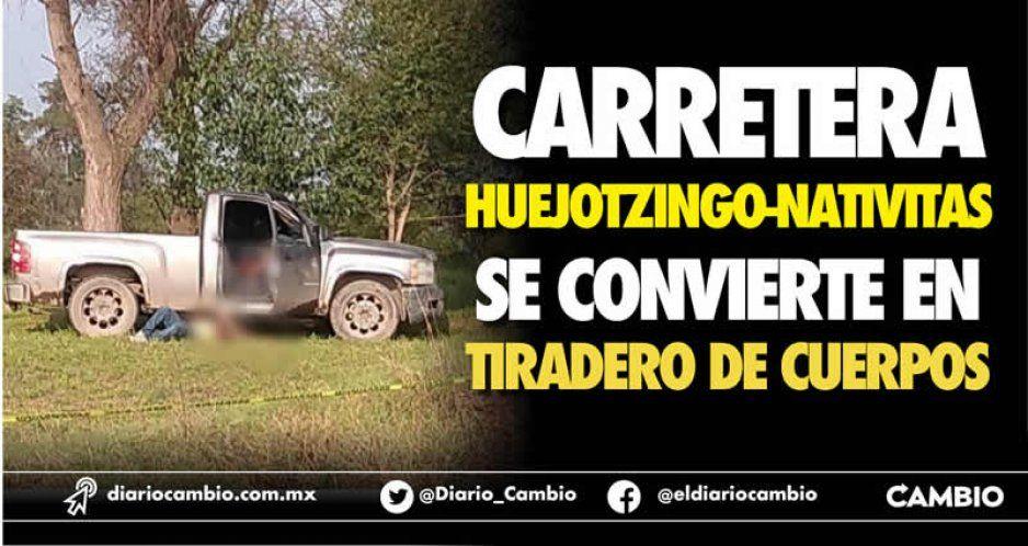 Carretera Huejotzingo-Nativitas  se convierte en tiradero de cuerpos