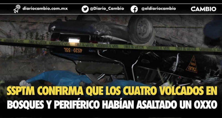 SSPTM confirma que los cuatro volcados en  Bosques y Periférico habían asaltado un Oxxo