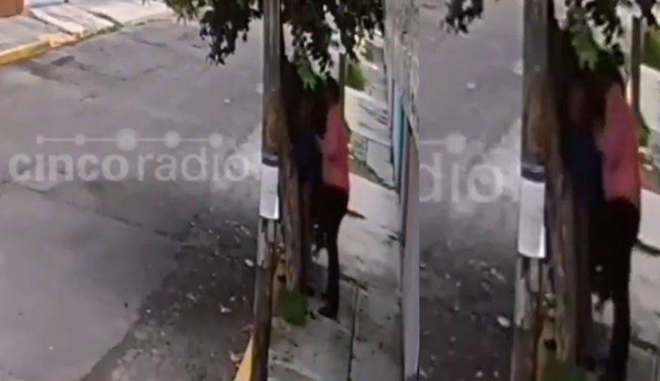 ¡Ponte con uno de tu edad! Sujeto asalta a abuelito en Ciudad Satélite (VIDEO)