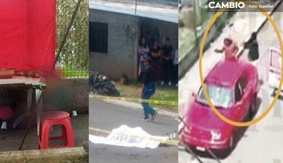 Captan el asesinato de madre y bebé en puesto de quesadillas en Tlalpan (VIDEO)