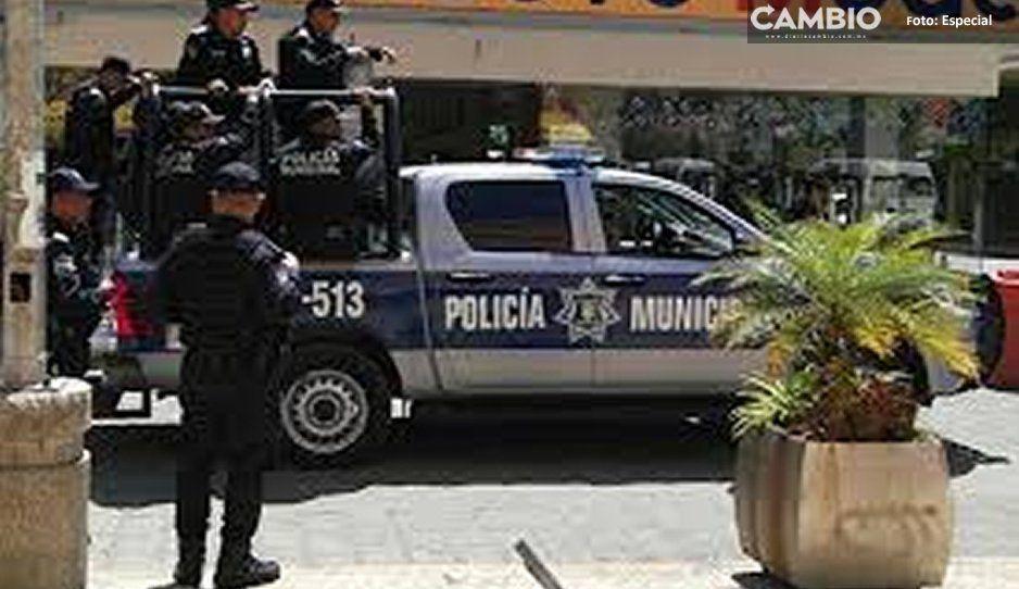 Detienen policías atlixquenses a ladrón tlaxcalteca