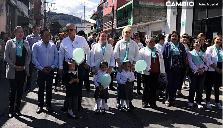 DIF de Teziutlán realiza marcha de conmemoración por el Día Estatal en Contra del Abuso Sexual Infantil