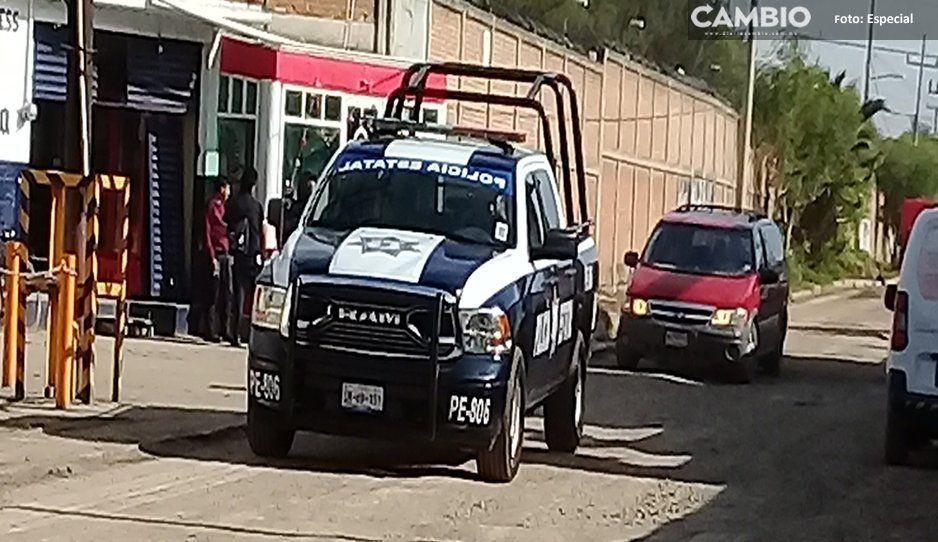 Golpeado y amarrado dejan a presunto ladrón en calles de Moyotzingo