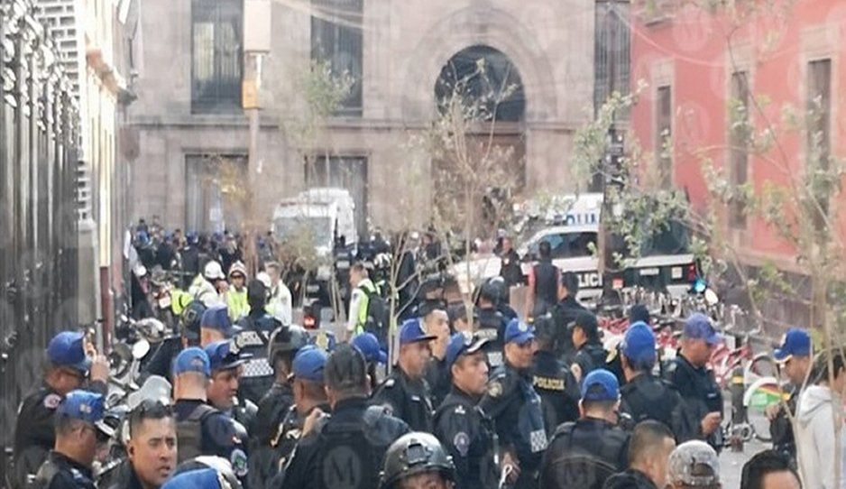 Se desata balacera cerca de Palacio Nacional; hay varios heridos