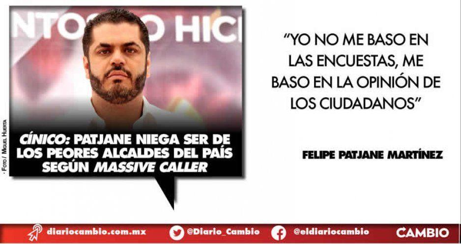 Rechaza Felipe Patjane ser el alcalde peor evaluado de Puebla (VIDEO)