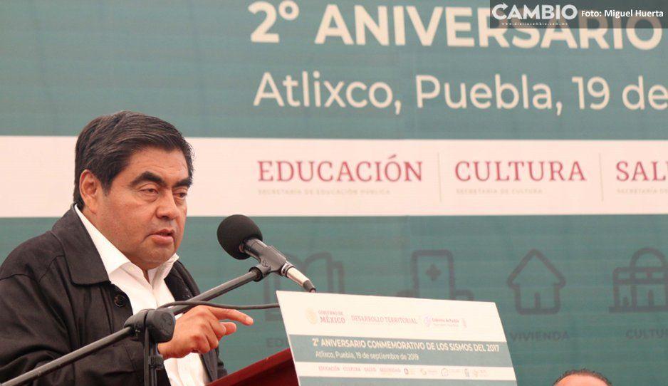 Barbosa planea alerta sísmica para  las zonas centro y sur de Puebla