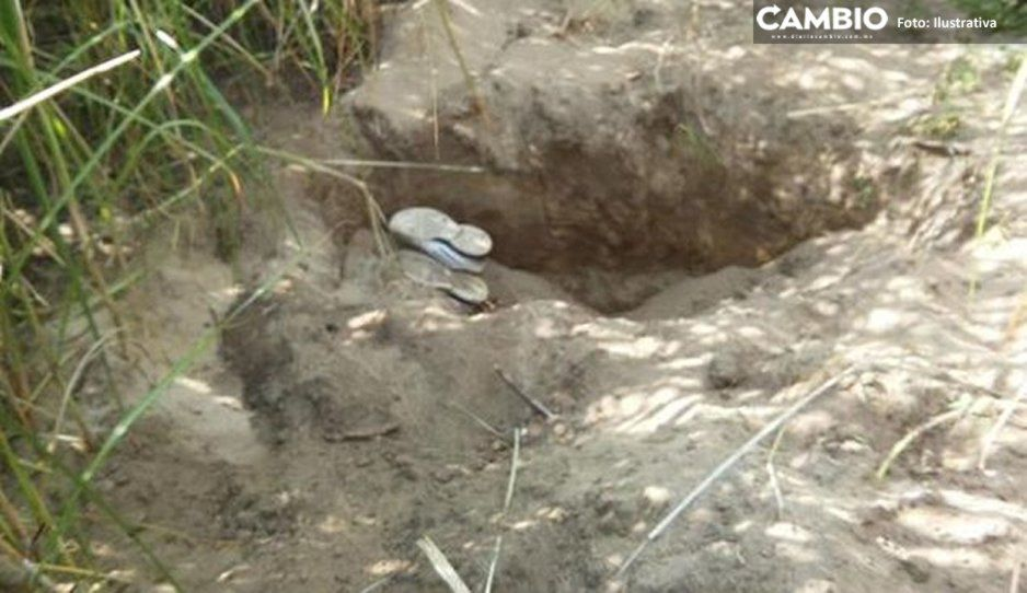 Feminicidio 9: Hallan a mujer semienterrada en cultivos de Huejotzingo
