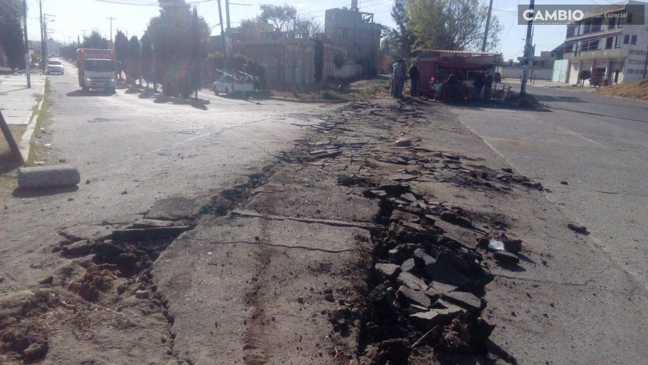 ALV.... Ya hasta las vías del tren se roban en Puebla
