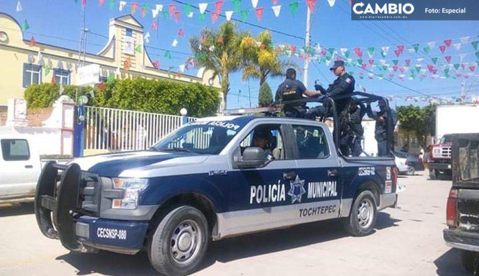 Policías de Tochtepec prevén abandonar el municipio por incumplimientos del alcalde