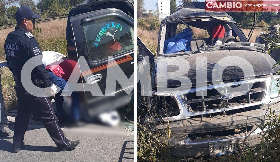 Muere en accidente en intento de asalto en Huixcolotla; hay otros tres heridos