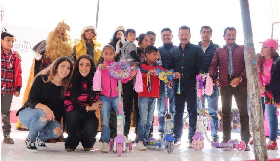 Arriaga Lila celebra Fiesta de Reyes con niñas y niños de San Pedro Cholula